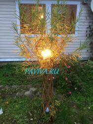 Плетёное дерево осенью