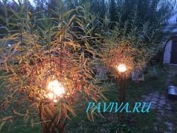 Декоративный светильник в виде живого дерева