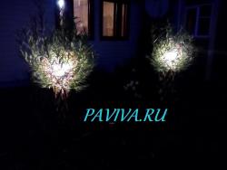 Плетёное дерево со светом