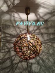 Шар световой потолочный плетёный
