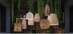 Светильник для бара и ресторана плетёный