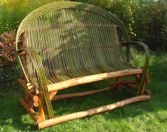 Диван садовый,диван для дачи,плетёный диван