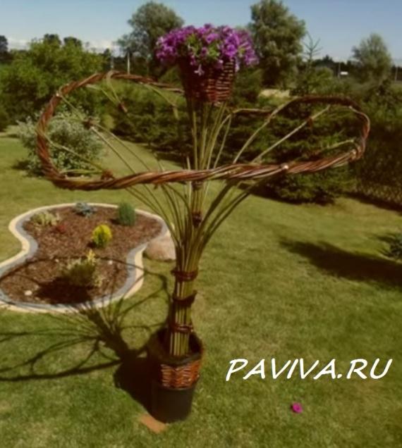 дерево из прута ивы