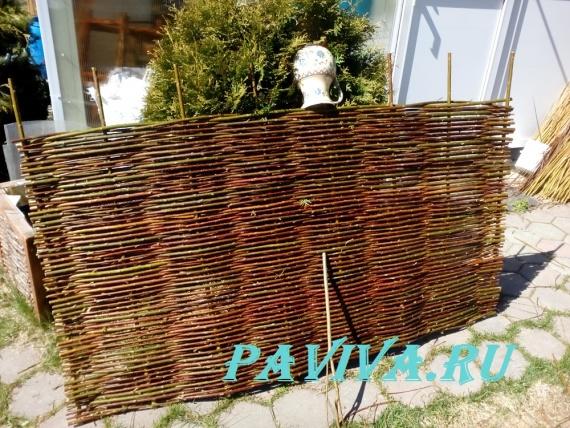 декоративный плетёный забор