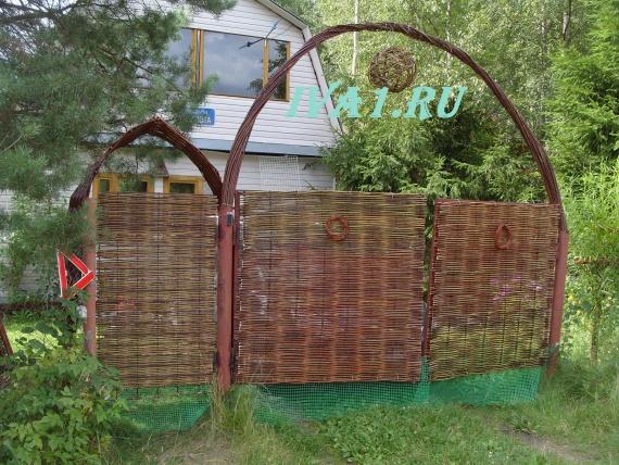 забор плетёный в спб