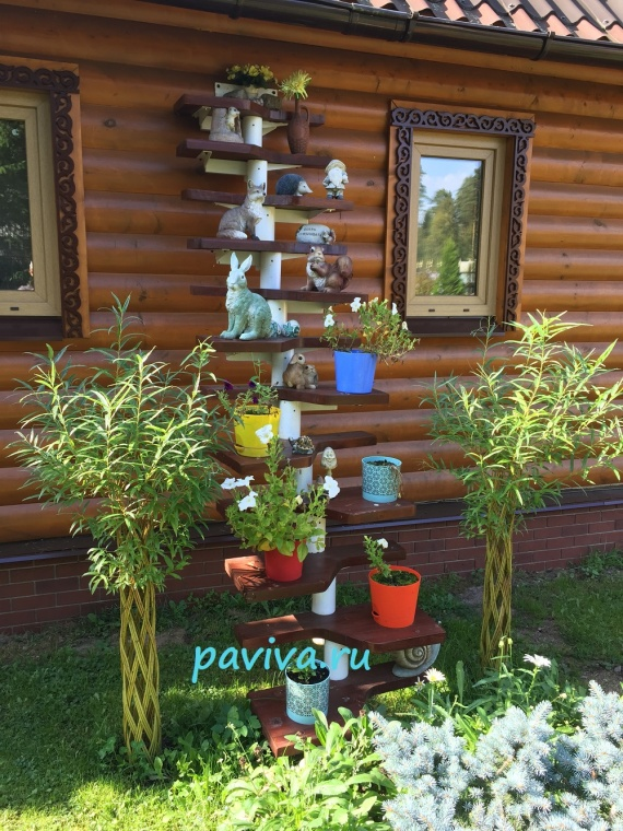 Дизайн ивы в саду